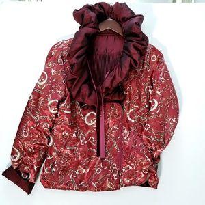 Lindi Reversible Pairs Pouf neck Jacket Sz M